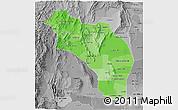 Political Shades 3D Map of La Rioja, desaturated