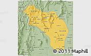 Savanna Style 3D Map of La Rioja