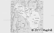 Silver Style 3D Map of La Rioja