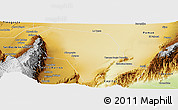 Physical Panoramic Map of Arauco