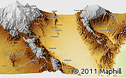 Physical Panoramic Map of Chilecito