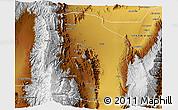 Physical 3D Map of Famatina