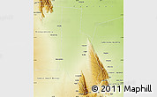 Physical Map of General Angel V. Pesaloza