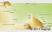 Physical Panoramic Map of General Angel V. Pesaloza