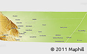 Physical Panoramic Map of General Belgrano