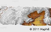 Physical Panoramic Map of General Lamadrid