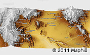 Physical Panoramic Map of General Lavalle