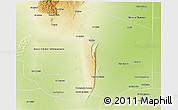Physical 3D Map of General San Martin