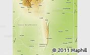 Physical Map of General San Martin