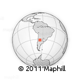 Outline Map of General San Martin