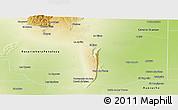 Physical Panoramic Map of General San Martin