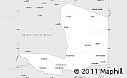 Silver Style Simple Map of General San Martin