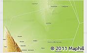 Physical 3D Map of Gobernador Gordillo