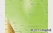 Physical Map of Gobernador Gordillo