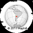 Outline Map of Gobernador Gordillo