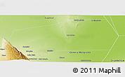 Physical Panoramic Map of Gobernador Gordillo