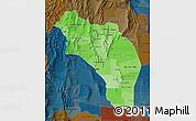 Political Shades Map of La Rioja, darken