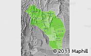 Political Shades Map of La Rioja, desaturated