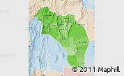 Political Shades Map of La Rioja, lighten