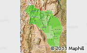 Political Shades Map of La Rioja, satellite outside