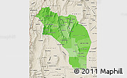 Political Shades Map of La Rioja, shaded relief outside