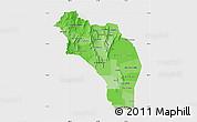Political Shades Map of La Rioja, single color outside
