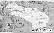 Gray Panoramic Map of La Rioja