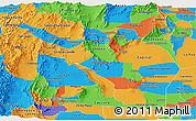 Political Panoramic Map of La Rioja