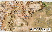 Satellite Panoramic Map of La Rioja