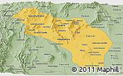 Savanna Style Panoramic Map of La Rioja