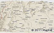 Shaded Relief Panoramic Map of La Rioja