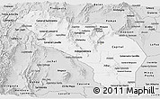 Silver Style Panoramic Map of La Rioja