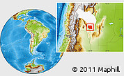 Physical Location Map of Rosario Vera Penaloza, highlighted parent region