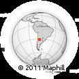 Outline Map of Rosario Vera Penaloza