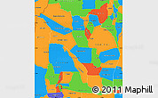 Political Simple Map of La Rioja