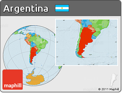 Free Political Location Map Of Argentina - Argentina map location