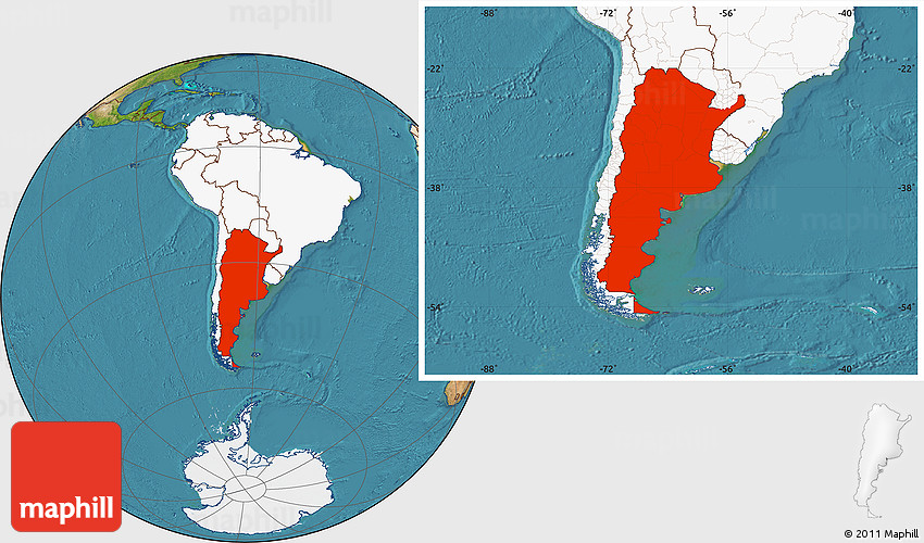 Satellite location map of argentina highlighted continent 2d gumiabroncs Images
