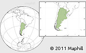 Savanna Style Location Map of Argentina, blank outside
