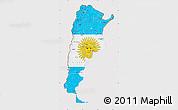 Flag Map of Argentina, flag centered