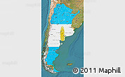 Flag Map of Argentina, satellite outside