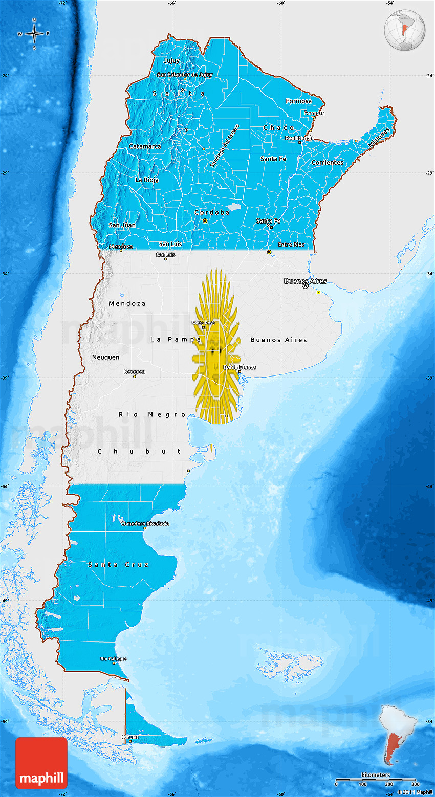 physical map of argentina with Bathymetry Sea on 6633 kaduna City Map Nigeria in addition Bandera De Alemania as well Rail Map together with Large Detailed Old Map Of Barcelona 1943 besides Brazil.