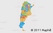 Political Map of Argentina, cropped outside