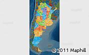 Political Map of Argentina, darken