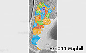 Political Map of Argentina, desaturated