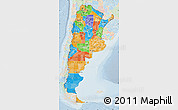 Political Map of Argentina, lighten