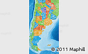 Political Map of Argentina, political shades outside