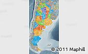 Political Map of Argentina, semi-desaturated