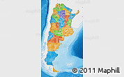 Political Map of Argentina, single color outside