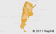 Political Shades Map of Argentina, cropped outside