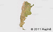 Satellite Map of Argentina, cropped outside